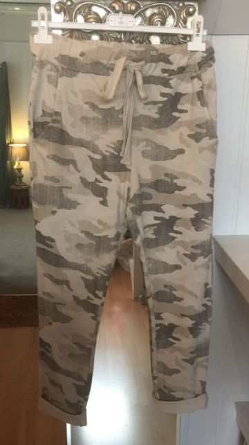 Sweatpants - Joggers - Camouflage - Taupe